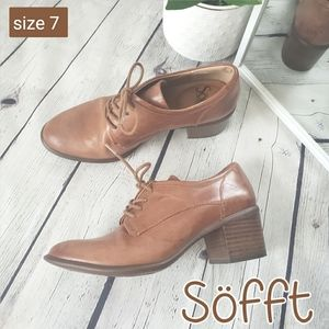 Sofft Women Brown Patience Heel Oxford size 7M